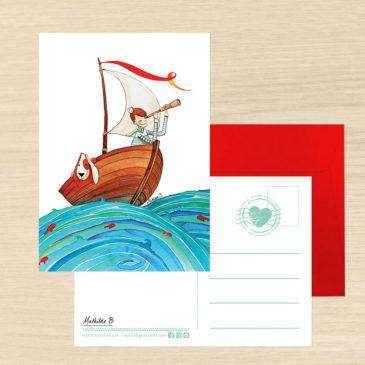 carte postale marin