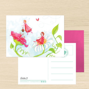 Carte Postale + enveloppe «Manon et Lison»