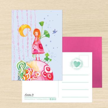 Carte Postale + enveloppe «Planète Grenadine»