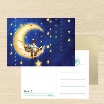 Carte de voeux + enveloppe «Bonne nuit Noé»
