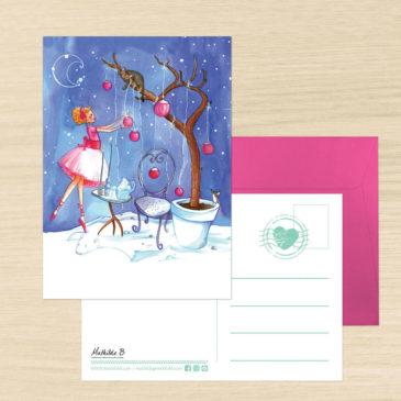 Carte Postale + enveloppe «Ballerine»