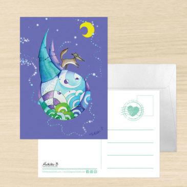 Carte Postale + enveloppe «Petit Loup»