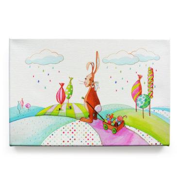 Toile murale «Valentin le lapin»