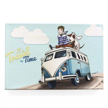 Toile murale enfant «Noé et Titou, en route pour de nouvelles aventures»