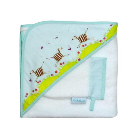 cape-de-bain-zebre-frise-avec-gant-de-toilette