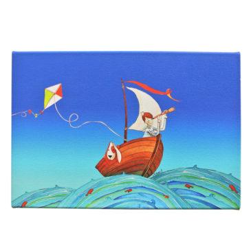 Toile «Noé et Titou, à la découverte de l'océan»