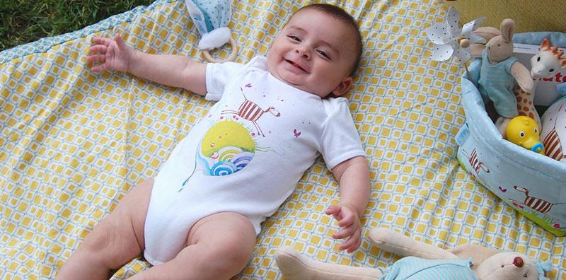 Body bébé coton illustré par Mathilde.B fabriqué en France