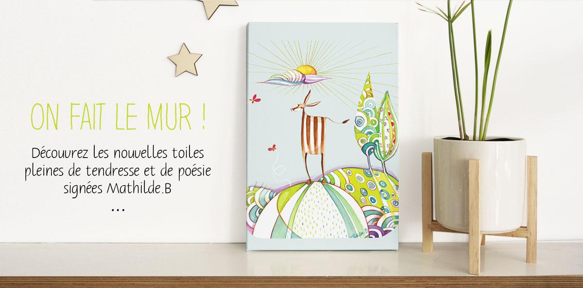 Toile illustrée Mathilde.B fabriquée en France
