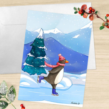 Carte de voeux 2018 pingouin