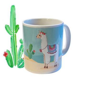 Mug maman Alpaga illustré en France par Mathilde B