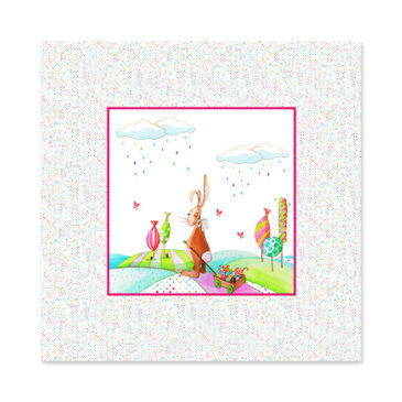 tapis de sol lapin pour bébé illustration Mathilde.B et made in France