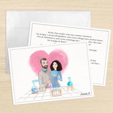 Faire-part de mariage