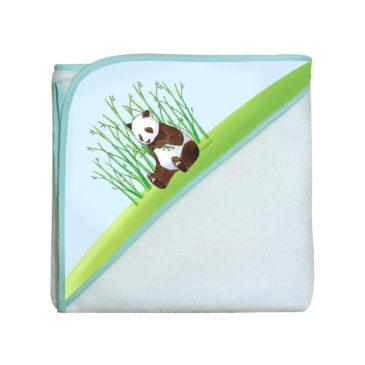 Sortie de Bain «Linda le panda» – Éponge en fibre de bambou