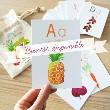 alphabet des fruits et légumes illustrés par Mathilde B