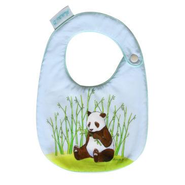 Bavoir bébé panda. Illustration Mathilde B. Fait en France