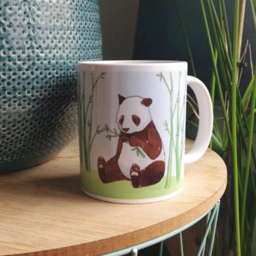 Mug panda. Illustration Mathilde B