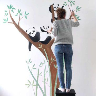 peinture mural chambre bébé